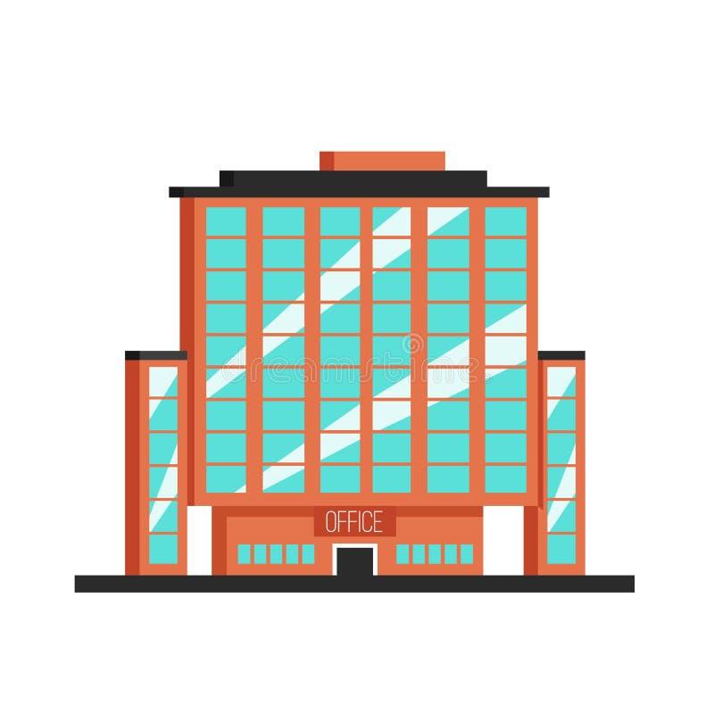 работа места офиса дела жилого здания Плоская иллюстрация вектора Стиль Конструктивизма бесплатная иллюстрация