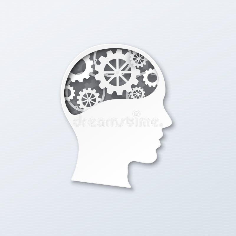 Работа мозга иллюстрация вектора
