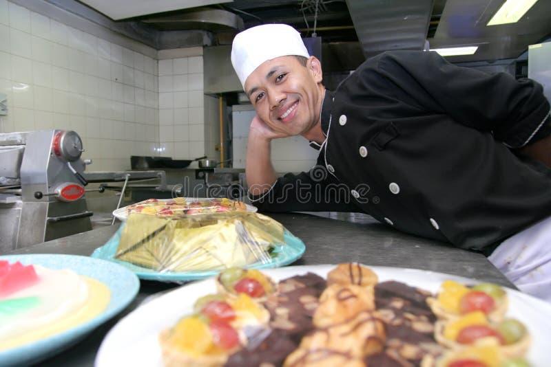 работа печенья шеф-повара стоковые фото
