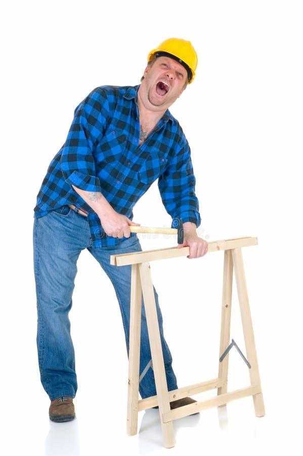 работа плотника стоковое изображение