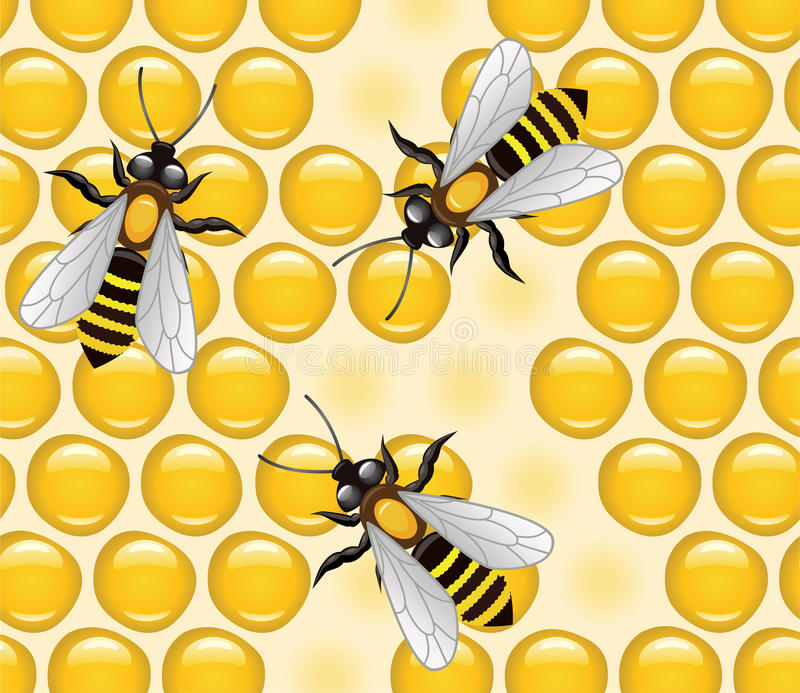 работа пчел иллюстрация вектора
