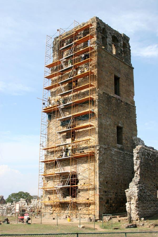 работа руины Панамы конструкции города старая стоковое фото rf