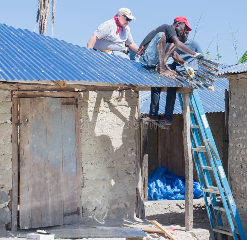 Работа сброса Мэттью урагана стоковое изображение rf