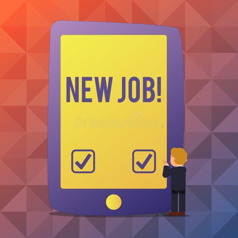 Работа текста сочинительства слова новая Концепция дела для недавно оплачивать положению регулярную занятость со специфическими з иллюстрация вектора