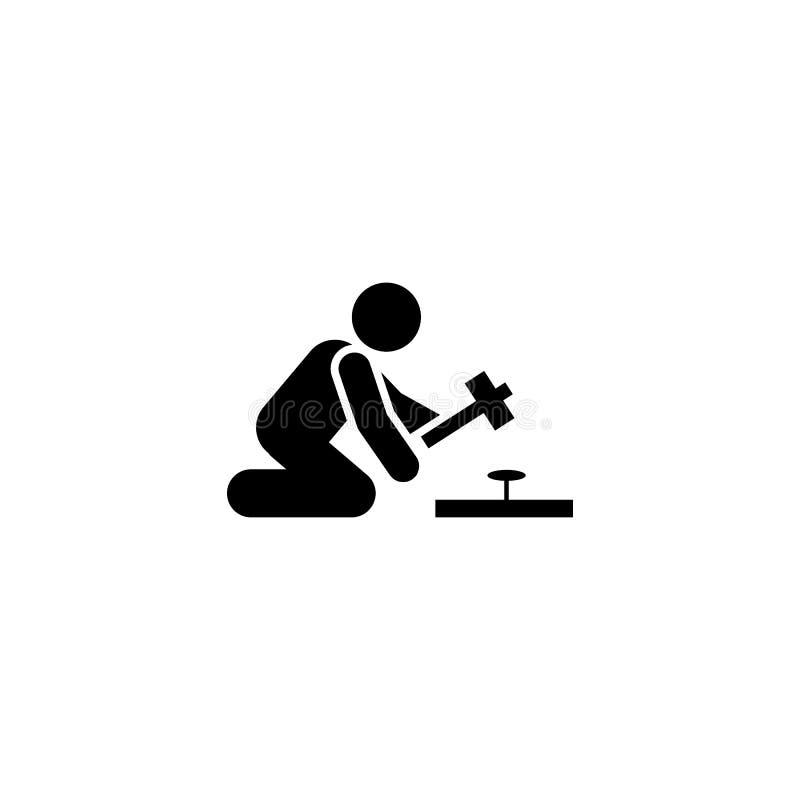 Работа, человек, установка, значок работы r r r иллюстрация штока