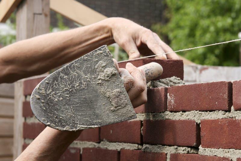 работа bricklayer стоковые фото