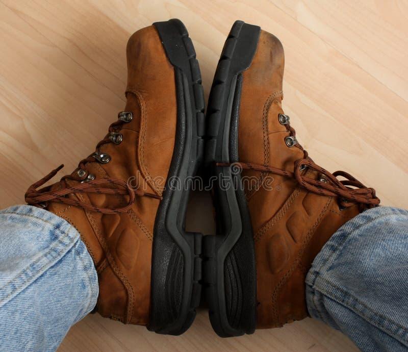 работа mens ботинок стоковая фотография rf