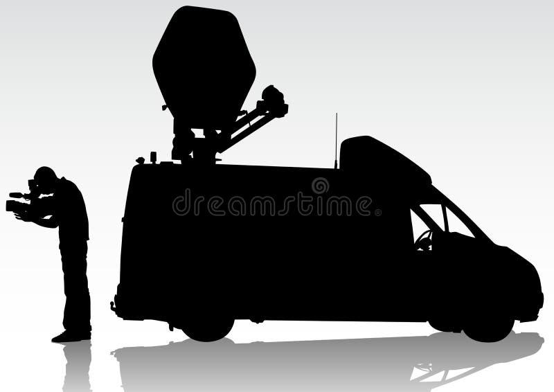 работа tv автомобиля иллюстрация вектора