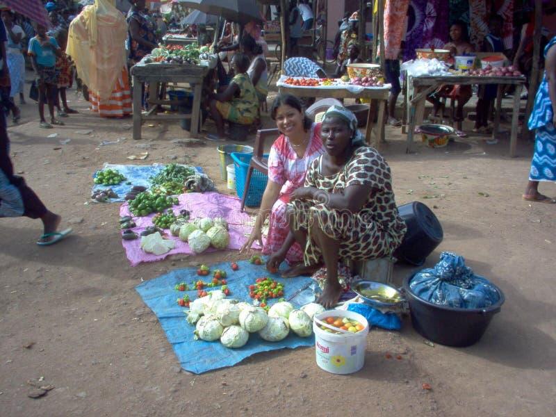 Работники Гвинеи-Бисау в Африке стоковые изображения