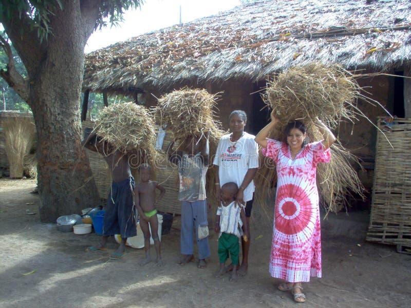 Работники Гвинеи-Бисау в Африке стоковая фотография