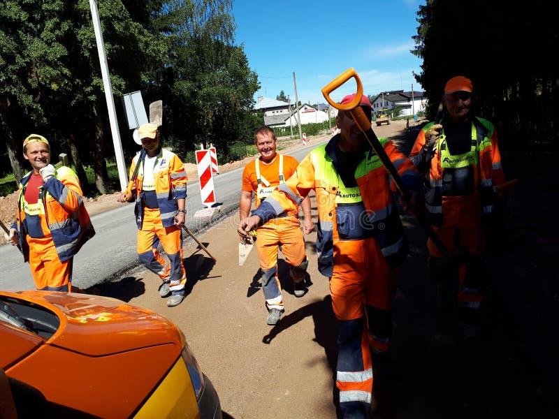 Работники дороги стоковая фотография rf