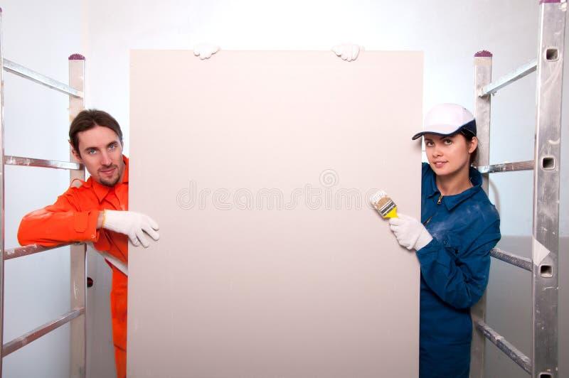 работники картины конструкции стоковое изображение