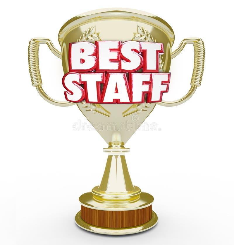 Работники команды рабочей силы верхней части награды самого лучшего трофея штата призовые иллюстрация штока