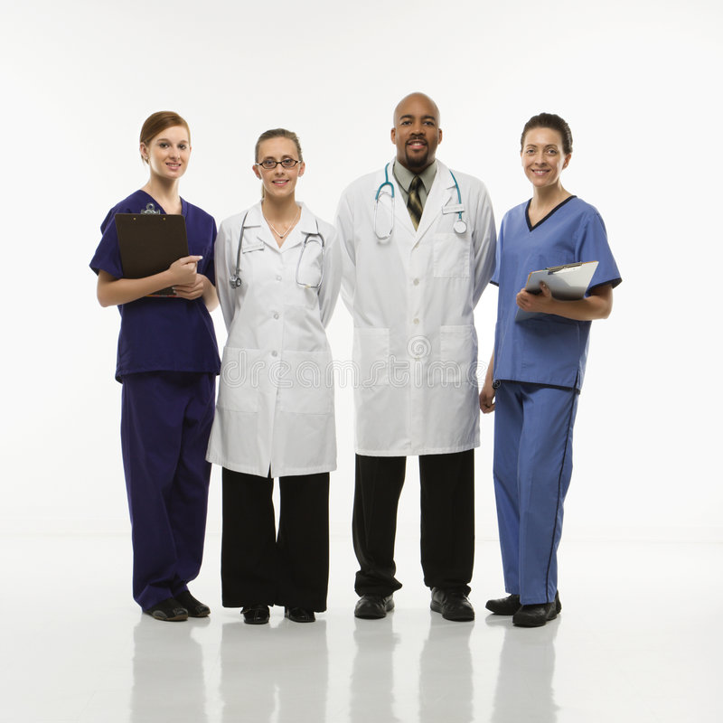 работники портрета медицинского соревнования стоковые изображения