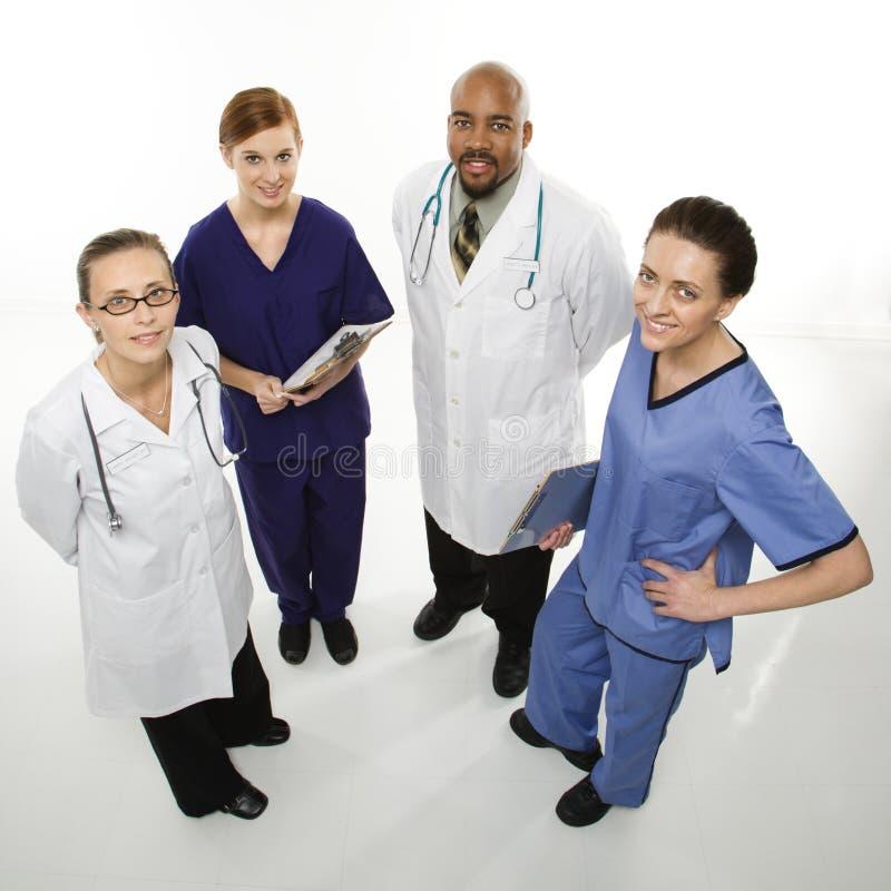 работники портрета медицинского соревнования стоковое фото rf