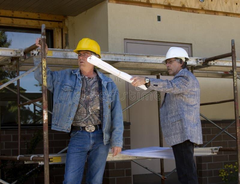 работники contstruction стоковое фото rf