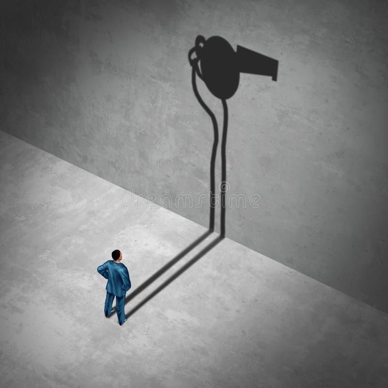 Работник воздуходувки свистка бесплатная иллюстрация