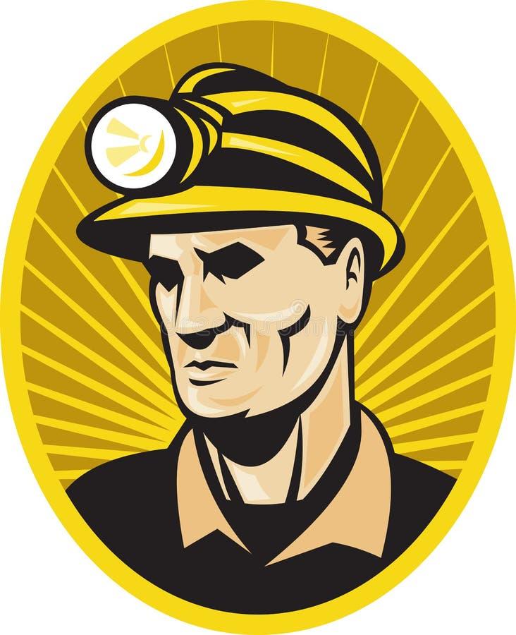 работник горнорабочей угля передний бесплатная иллюстрация