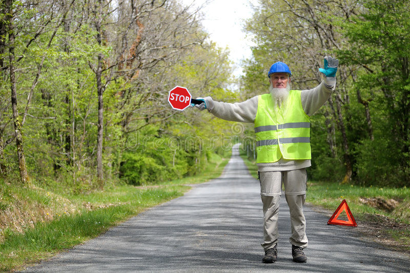 работник дороги стоковое изображение