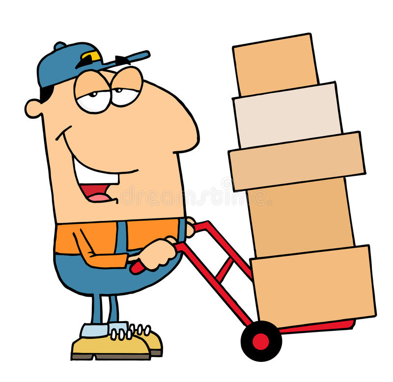 работник доставляющий покупки на дом бесплатная иллюстрация