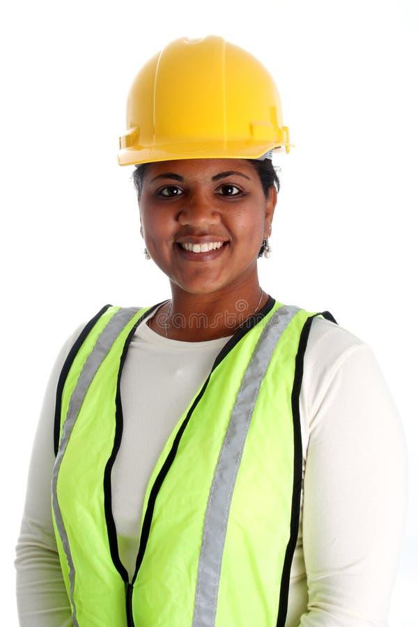 работник женщины конструкции стоковая фотография rf