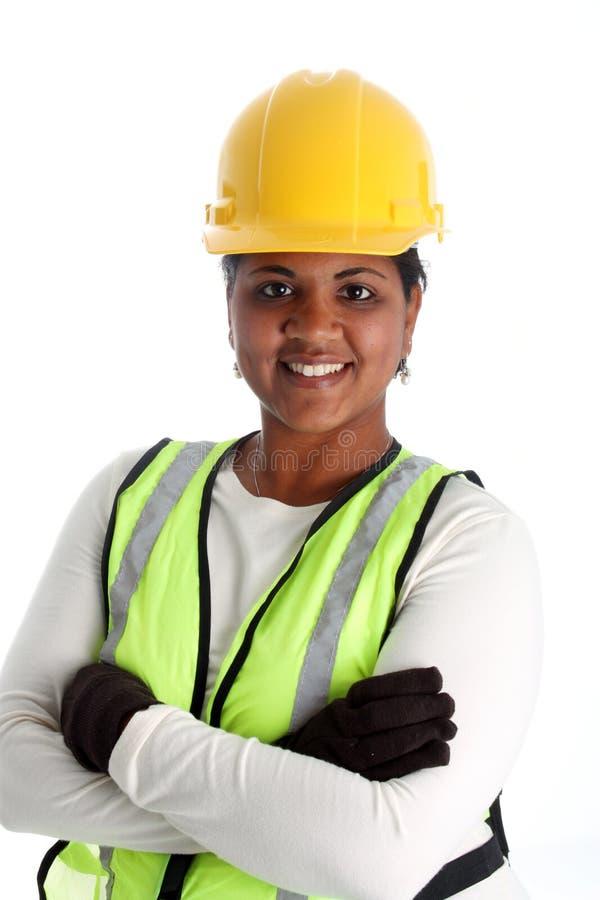 работник женщины конструкции стоковая фотография