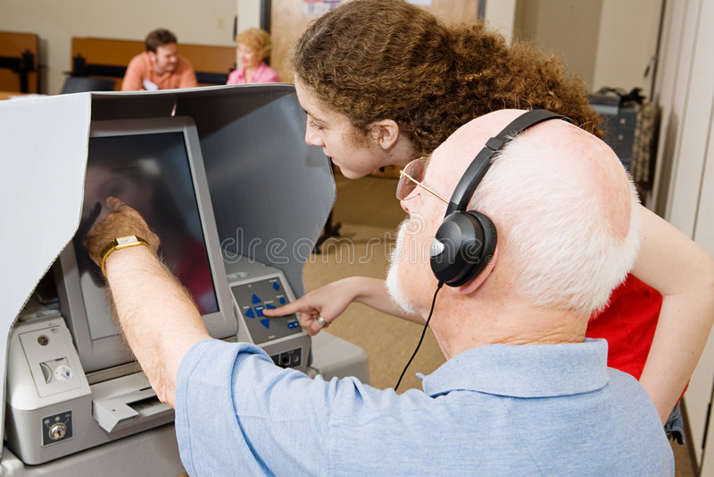 работник избирателя списка избирателей стоковые изображения rf