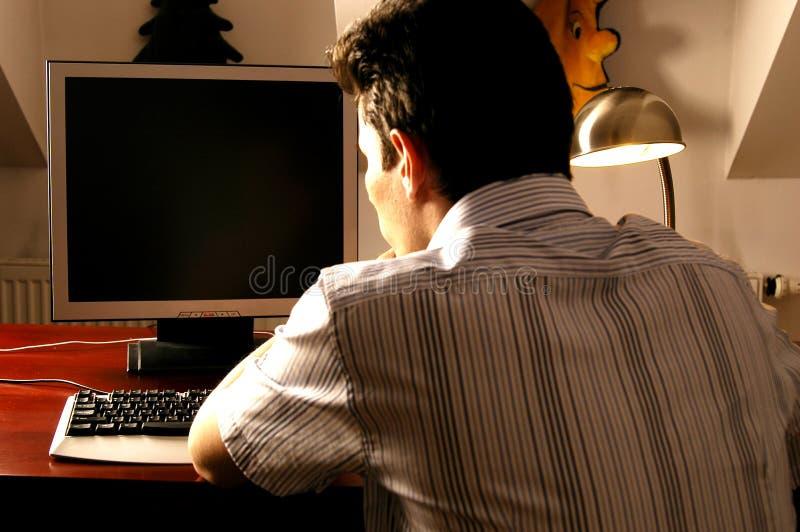 работник компьютера стоковая фотография