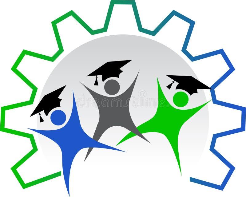 работник логоса образования иллюстрация вектора