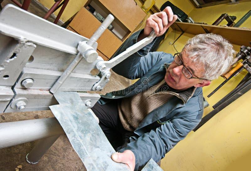 работник металла стоковая фотография