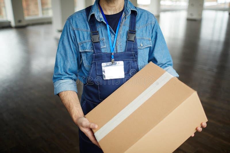 Работник обслуживания поставки стоковая фотография