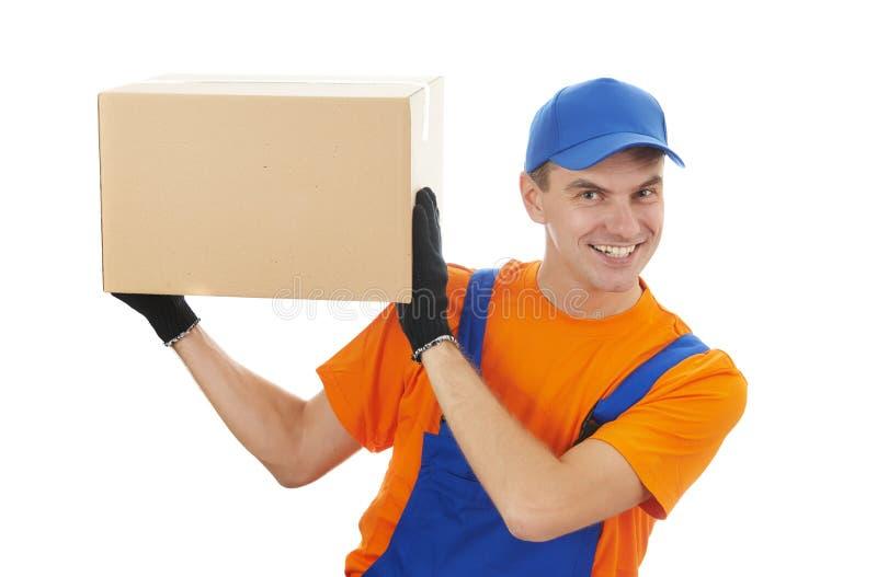 Работник доставляющий покупки на дом стоковые фото