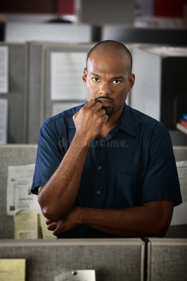 работник офиса серьезный стоковое фото rf