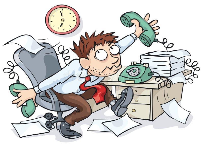 работник офиса иллюстрация штока