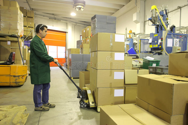 работник пакгауза стоковые фотографии rf
