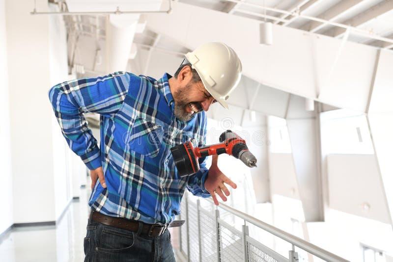 Работник получая ушиб стоковое фото rf