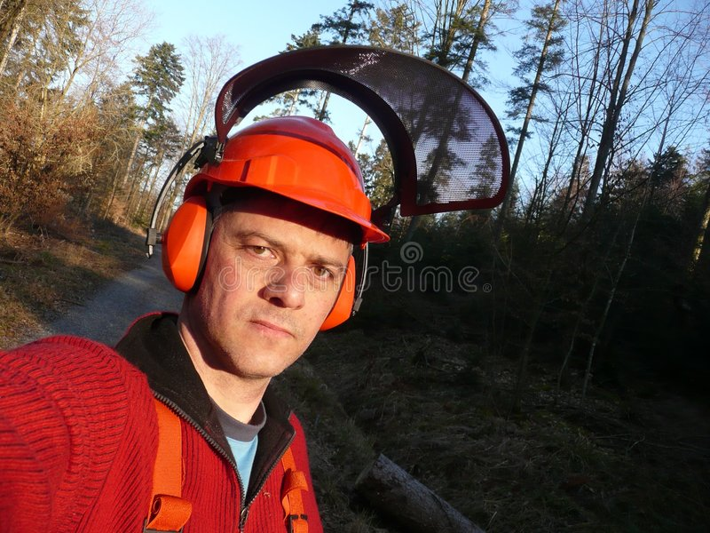 работник пущи стоковое фото