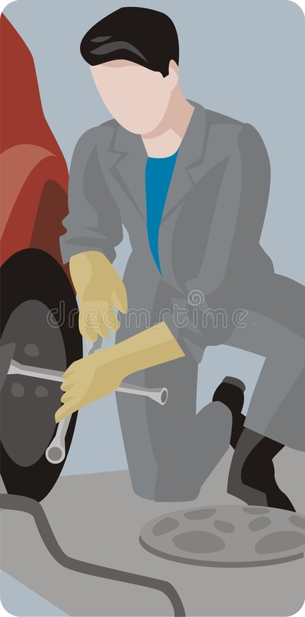 работник серии иллюстрации иллюстрация штока