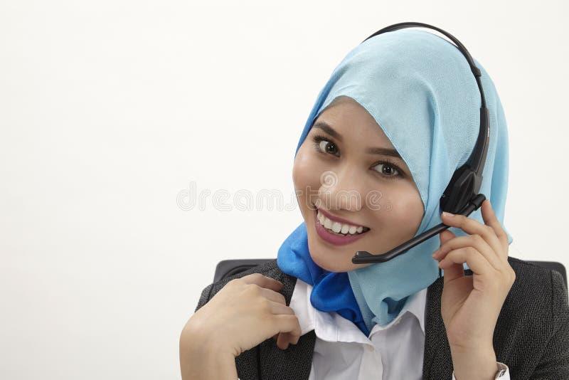 Работник службы рисепшн Malay, стоковые фотографии rf