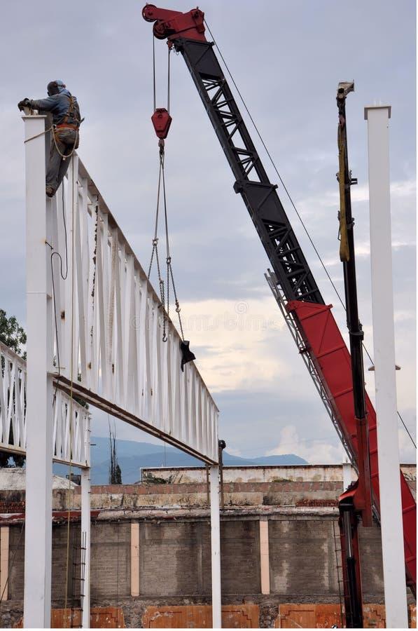 Работник стальной структуры стоковая фотография rf