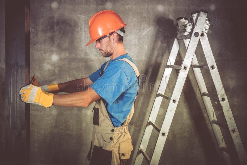 Работник строительного подрядчика стоковые изображения