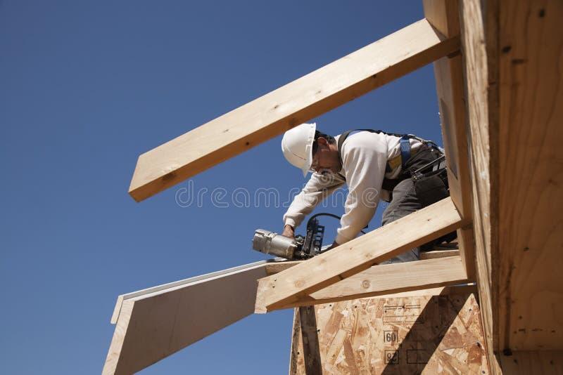 работник строительства стоковое изображение