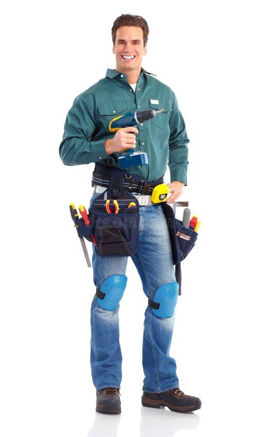 работник строителя стоковые фотографии rf