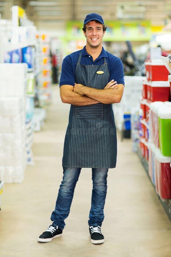 Работник супермаркета стоковые изображения rf