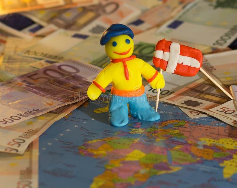 Download Работник с флагом - Данией стоковое изображение. изображение насчитывающей люди - 52366083