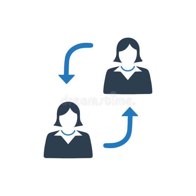 Работодатель заменяет значок иллюстрация вектора