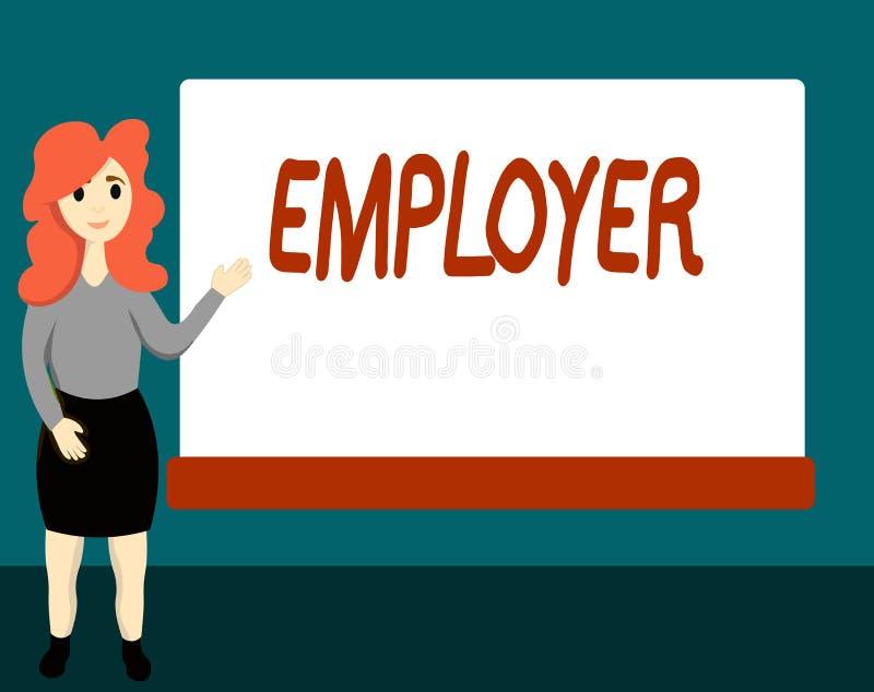 Работодатель текста почерка Демонстрировать или организация смысла концепции который используют показывать на период времени бесплатная иллюстрация