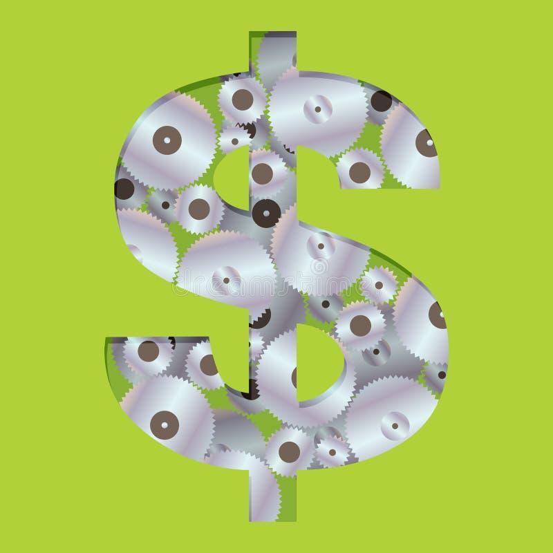 Работы денег иллюстрация вектора
