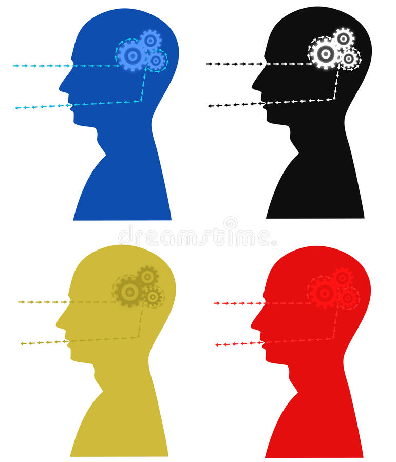 работы мозга иллюстрация штока