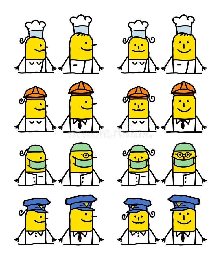 работы персонажей из мультфильма иллюстрация штока